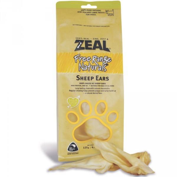 "Zeal ""Natural Pet Treats"" - 熱愛天然紐西蘭羊耳 125g"