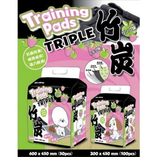 Triple 尿墊 (士多啤梨竹炭)