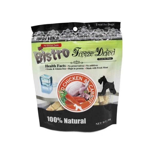英國 Bistro Freeze Dried 脫水雞肉胡蘿蔔狗小食