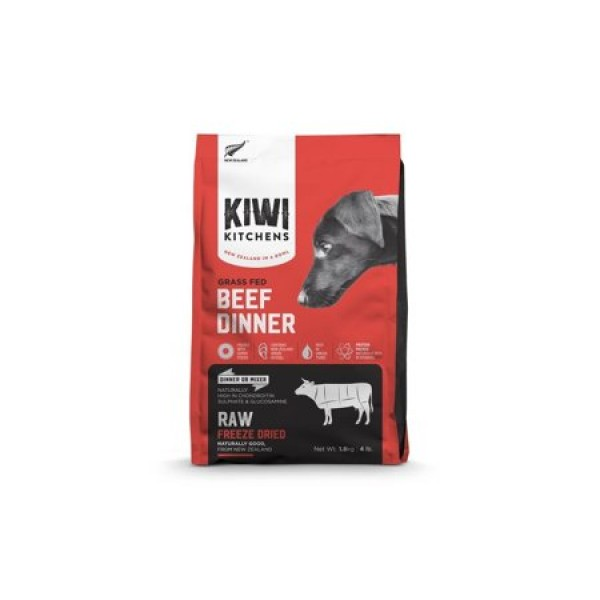 Kiwi Kitchens 新西蘭犬用凍乾主糧 - 野放牛