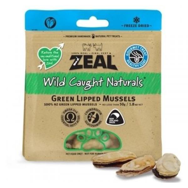 Zeal 熱愛天然寵物小食 - 紐西蘭綠唇青口乾 (50g)